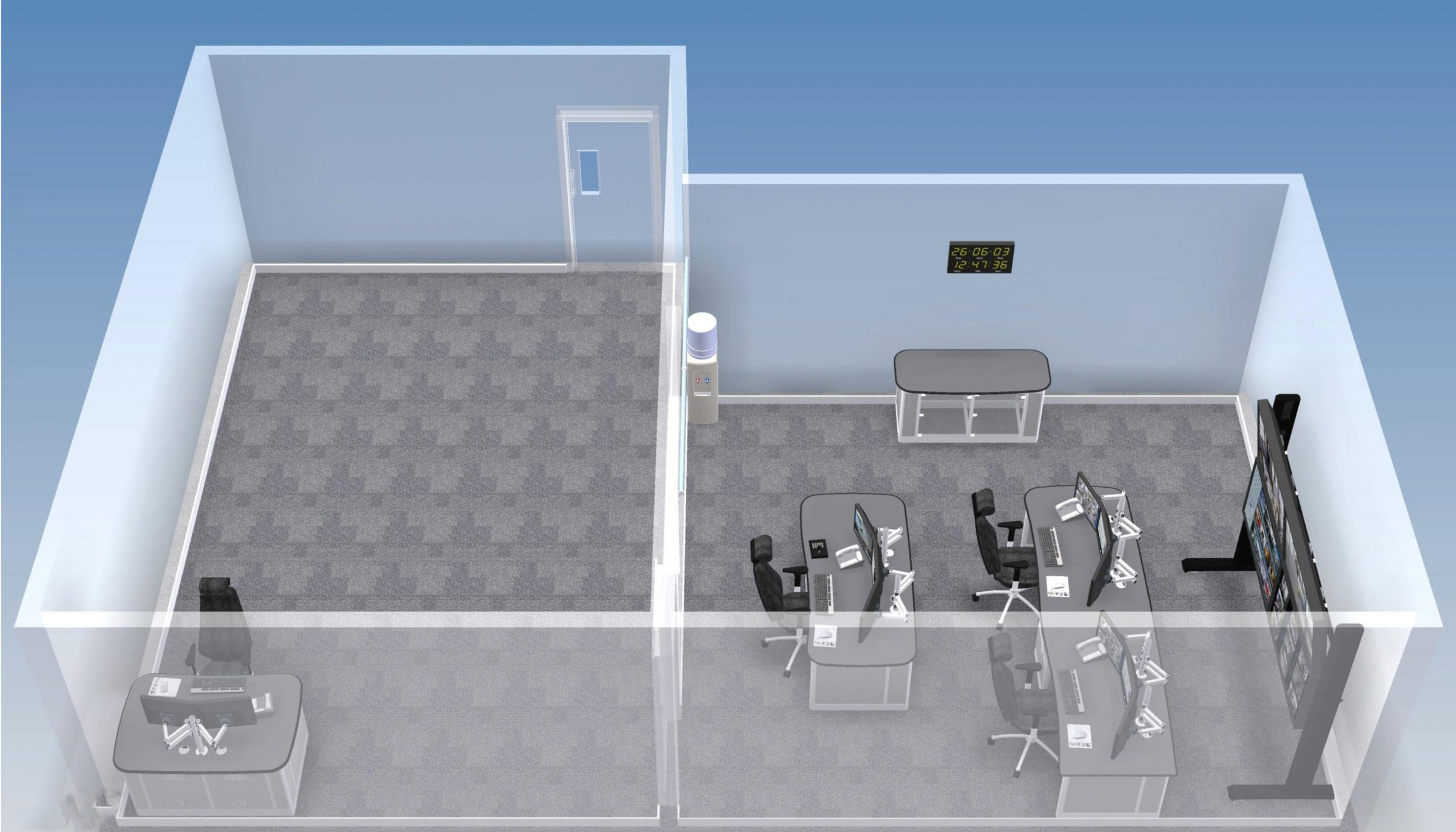 parramatta control room render whole room