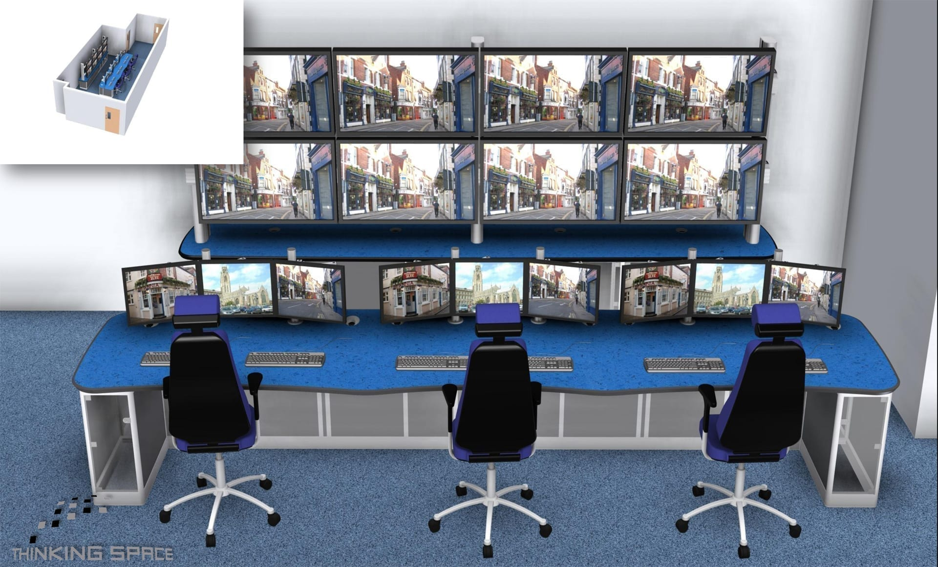 boston cctv control room render drawing