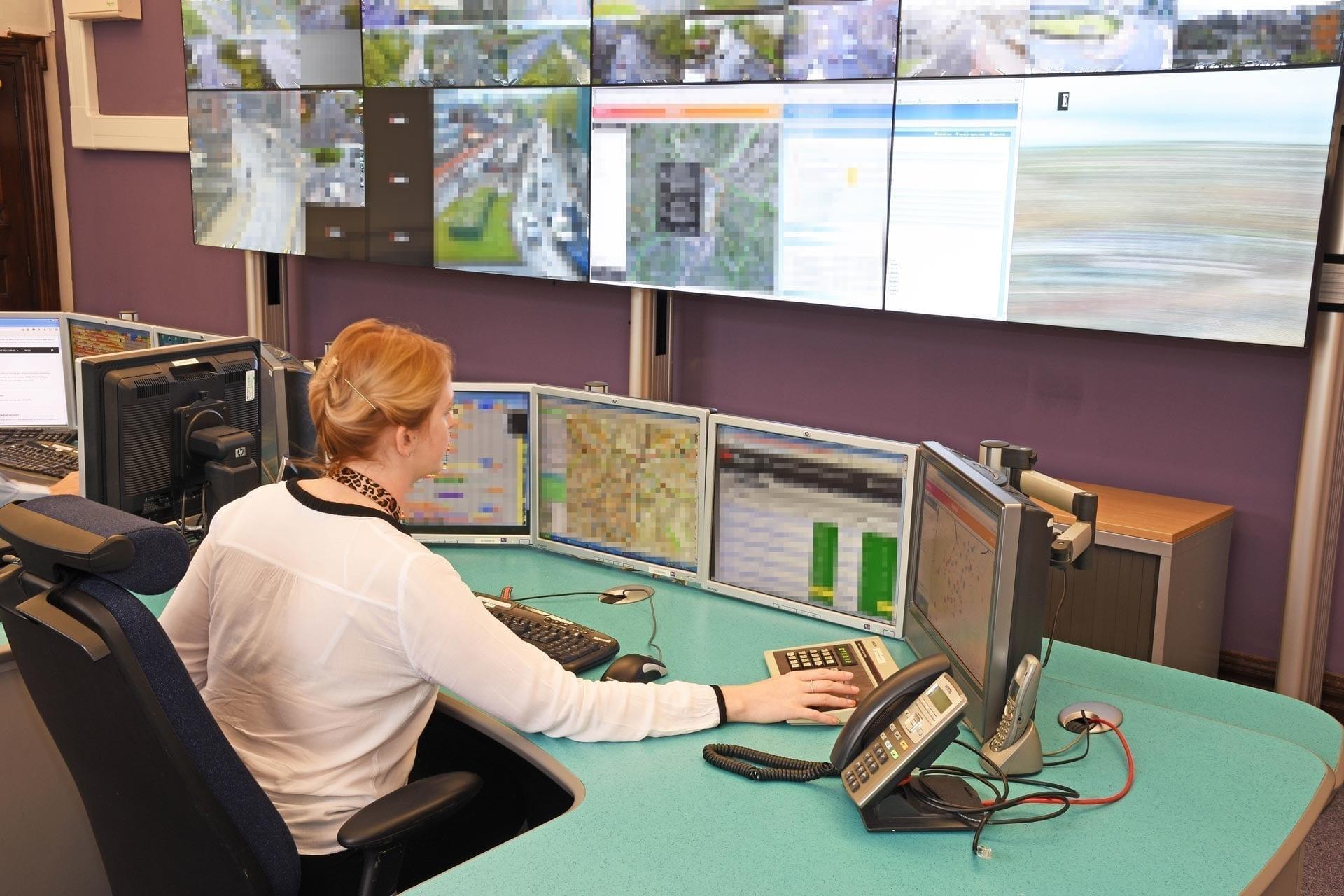 Sheffield Urban Traffic Centre control room