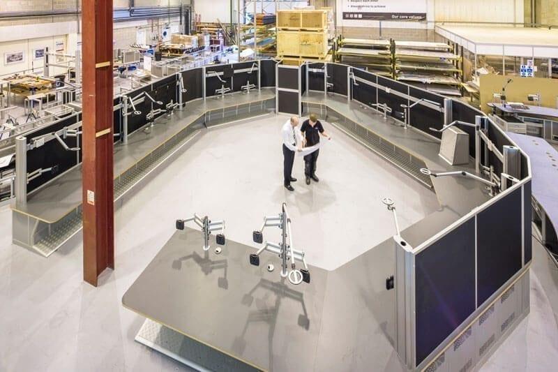 Malta ATC radar console photo Thinking Space Systems factory mockup