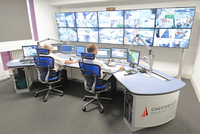chesterfield-CCTV control room Thinking Space System photo